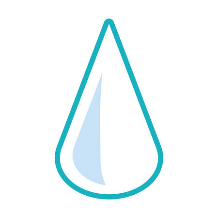 Water drop icon over white background vector illustration. Illustration