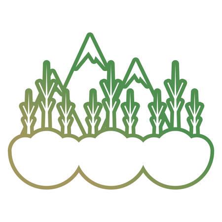 Dry trees icon over white background vector illustration. Illustration