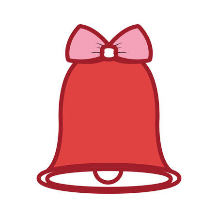 christmas bell icon over white background vector illustration