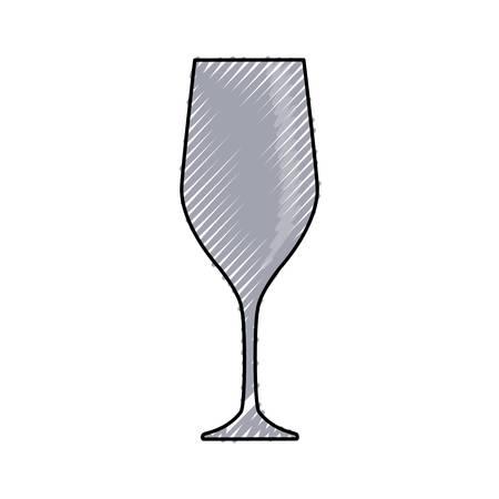 colored glass over white background  vector illustration Illustration