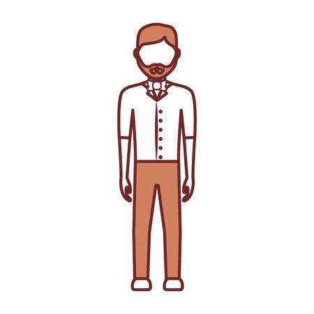 avatar bartender icon over white background vector illustration Illustration