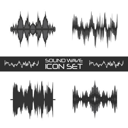 sound wave icon over over white background vector illustration