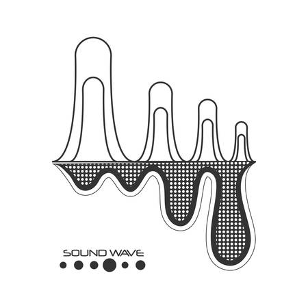 black and gray sound wave over white background vector illustration