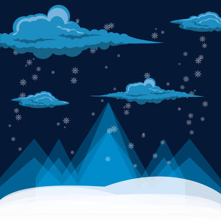 alps with snow icon colorful design vector illustration Ilustrace
