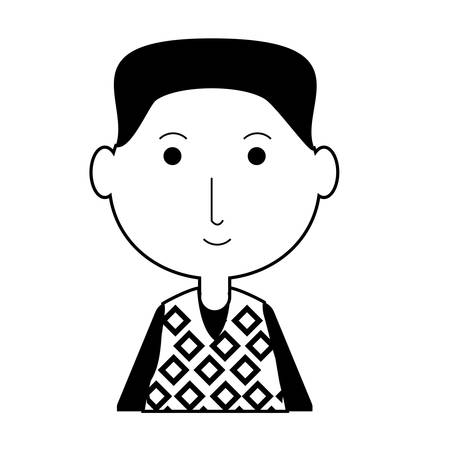cartoon elderly man icon over white background vector illustration