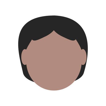 Avatar elderly man icon over white background colorful design vector illustration Illustration
