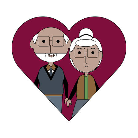 Heart with a Elderly couple icon