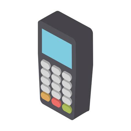 consumerism: isometric dataphone device icon over white background colorful design  vector illustration Illustration