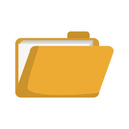 document folder icon over white background colorful design  vector illustration Illustration