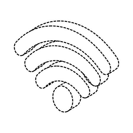 wifi symbol icon over white background vector illustration Illustration