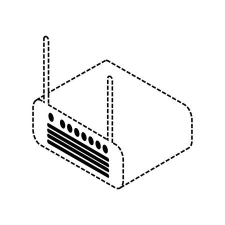 wifi router device icon over white background vector illustration