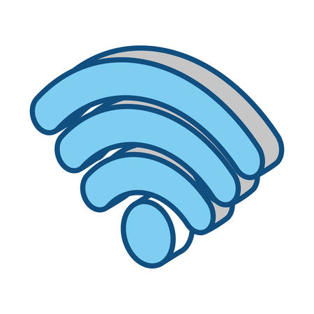 wifi symbol icon over white background colorful design vector illustration
