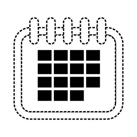 calendar icon over white background vector illustration