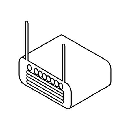 wifi router device icon Illustration