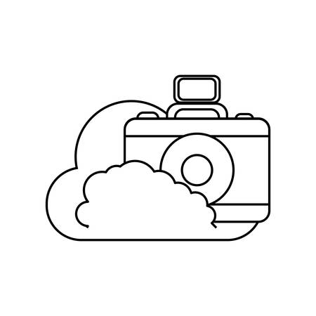 Cloud with camera icon.
