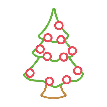 christmas tree icon over white background colorful design  vector illustration Illustration
