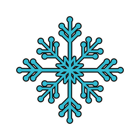 snowflake icon over white background vector illustration