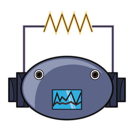icono de cabeza de robot de dibujos animados sobre fondo blanco ilustración de vector de diseño colorido