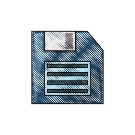 floppy diskette icon over white background colorful design vector illustration