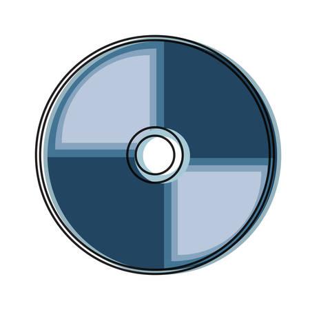 Icona di CD Rom sopra l'illustrazione bianca di vettore del fondo Archivio Fotografico - 90403801