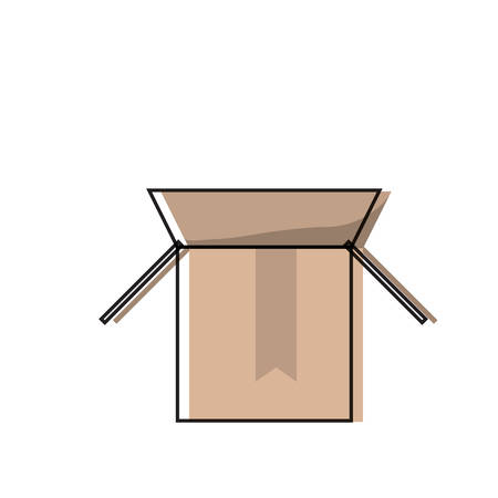 cardboard box with upload arrow icon over white background colorful design vector illustration