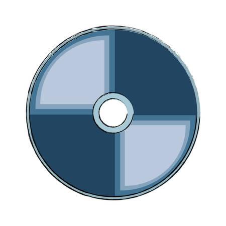 Icona di CD Rom sopra l'illustrazione bianca di vettore del fondo Archivio Fotografico - 90404492