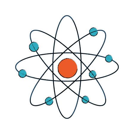 atom icon over white background colorful design vector illustration