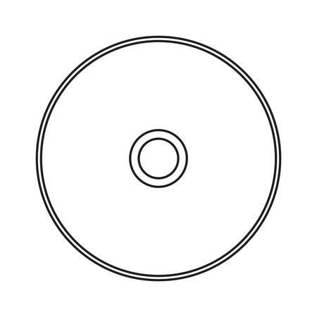 CD Rom icon over white background vector illustration