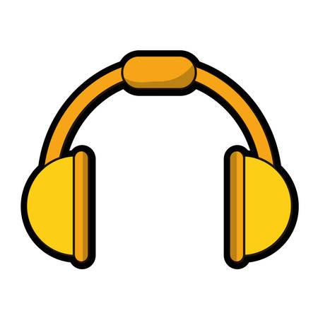Music headphones device icon Illustration