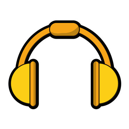 Music headphones device icon Illustration