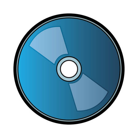 CD Rom icon over white background, vector illustration.