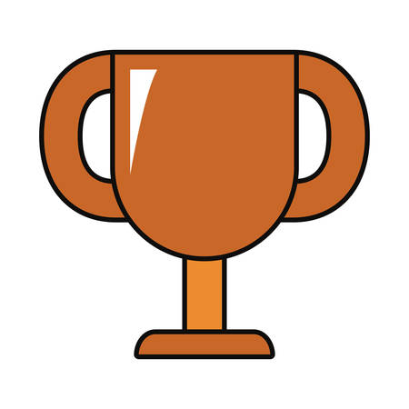 trophy cup icon over white background colorful design vector illustration