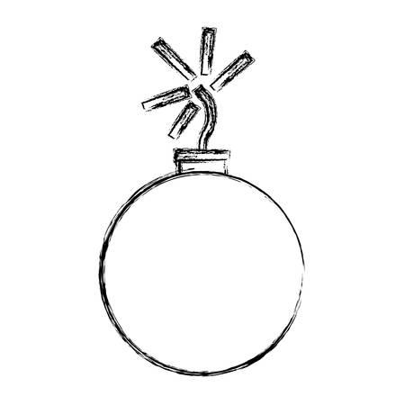 bomb icon over white background vector illustration