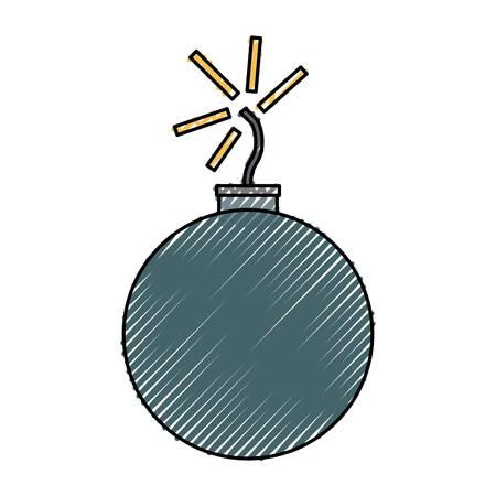 bomb icon over white background colorful design vector illustration Illustration