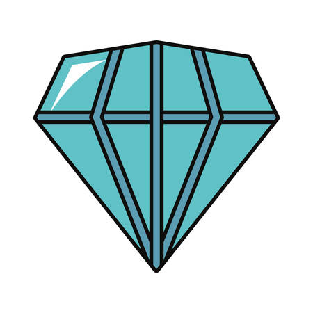diamond gem icon over white background vector illustration