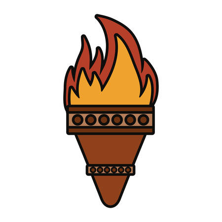torch icon over white background colorful design vector illustration Illustration