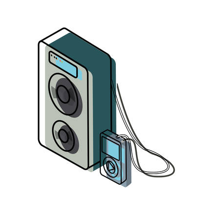 Speaker vector illustration Illustration