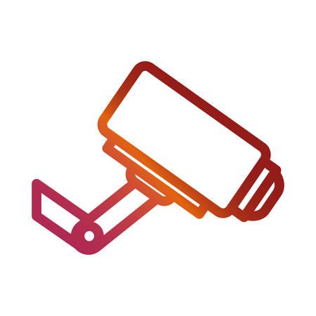 surveillance camera icon over white background vector illustration
