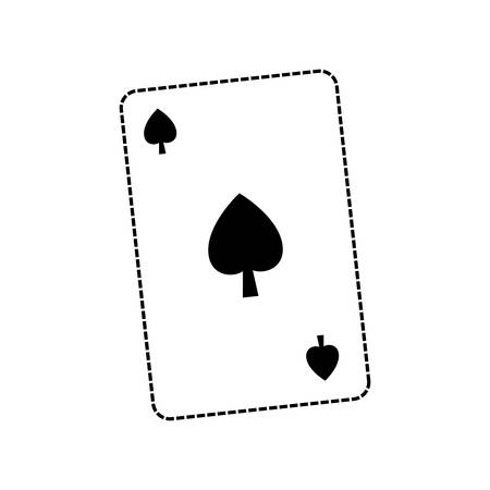 spade poker card icon over white background vector illustration