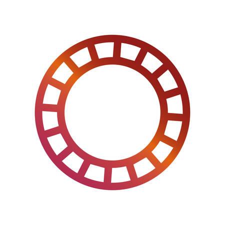 casino chip icon over white background colorful design vector illustration  イラスト・ベクター素材