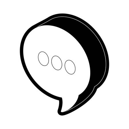 flat line  monochormatic  chat bubbles over white background  vector illustration