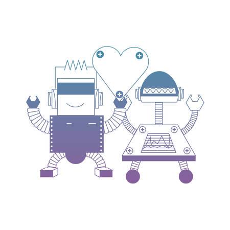 couple of robots icon
