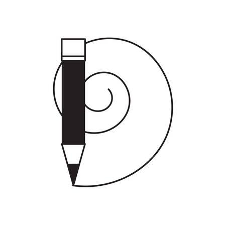 pencil utensil icon image Illustration