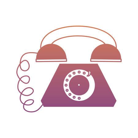 retro telephone icon over white background colorful design  vector illustration Illustration