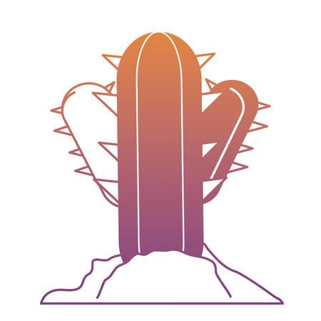 cactus plant icon over white background vector illustration Illustration