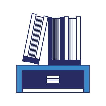 chest of drawers with books icon over white background vector illustration