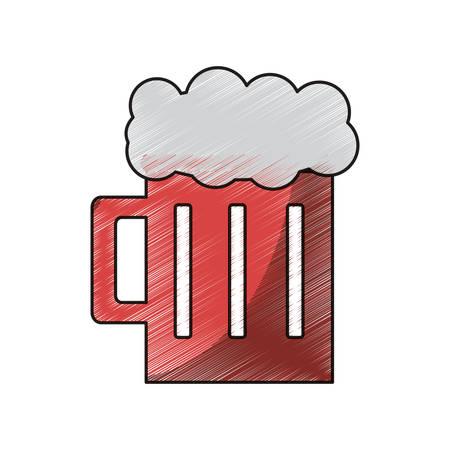 beer glass icon over white background colorful design vector illustration Illustration