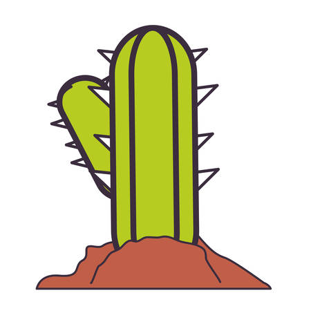 cactus plant icon over white background vector illustration Illustration