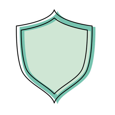 colored shield over white background  vector illustration Иллюстрация