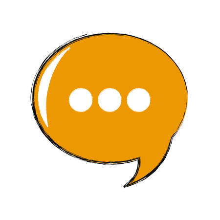 colored chat bubble over white background  vector ilustration
